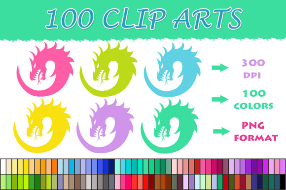 Download Free 100 Dragon Head Clip Art Graphic By Sweetdesign Creative Fabrica for Cricut Explore, Silhouette and other cutting machines.