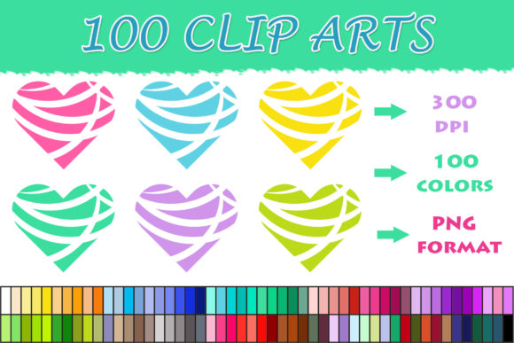Download Free 100 Modern Heart Clip Art Graphic By Sweetdesign Creative Fabrica for Cricut Explore, Silhouette and other cutting machines.