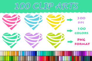100 Modern Heart Clip Art Graphic Illustrations By SweetDesign