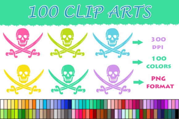 Download Free 100 Skull And Sword Clip Art Graphic By Sweetdesign Creative for Cricut Explore, Silhouette and other cutting machines.