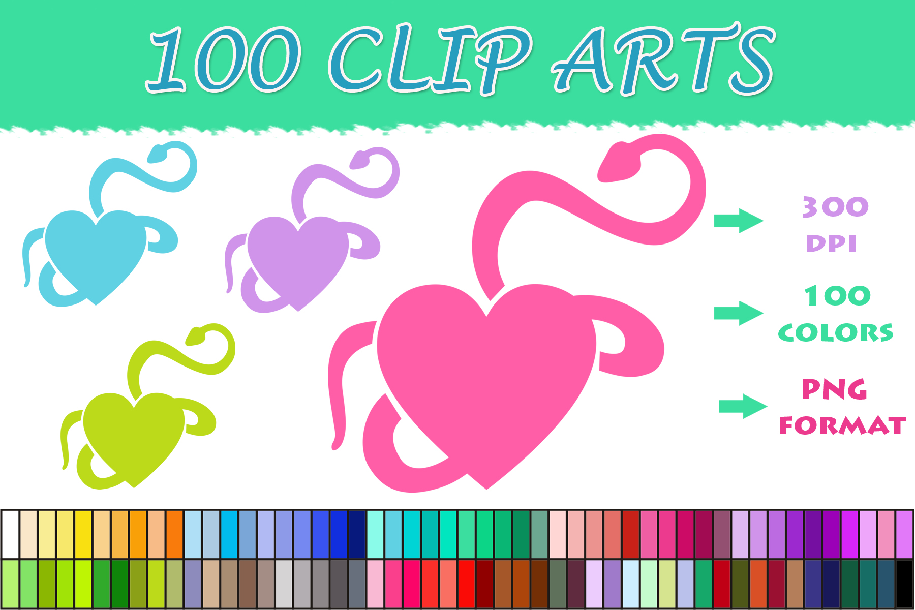 Download Free 100 Snake Heart Clip Art Graphic By Sweetdesign Creative Fabrica for Cricut Explore, Silhouette and other cutting machines.