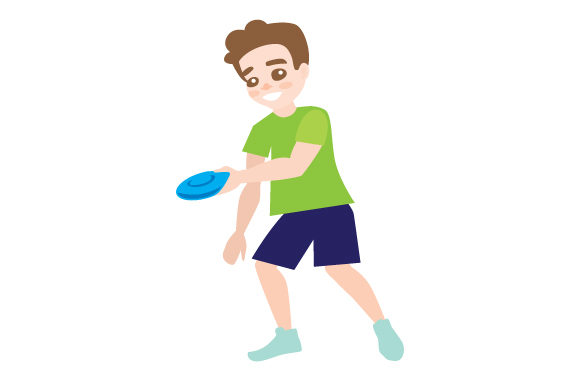 Person Throwing Frisbee Hobbies Craft Cut File By Creative Fabrica Crafts