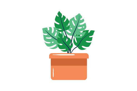 Potted Plant Designs & Drawings Craft Cut File By Creative Fabrica Crafts