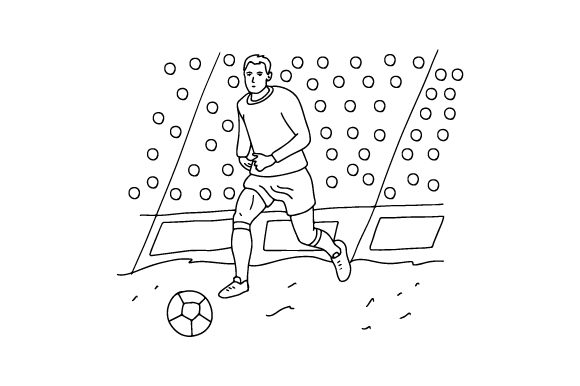 Football Player Coloring Page Kids Craft Cut File By Creative Fabrica Crafts
