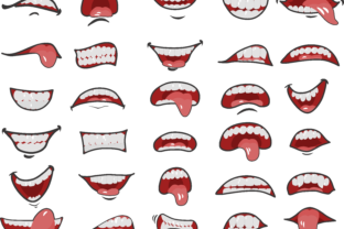 30 Cartoon Mouths Face Mask Pattern Graphic Print Templates By SvgOcean 2