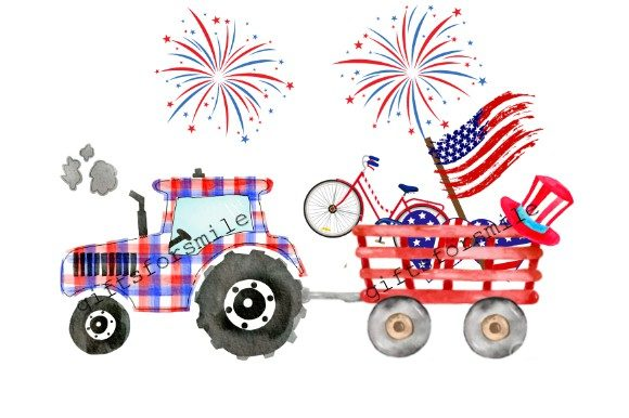 4th July Tractor Template Sublimation Graphic Print Templates By aarcee0027