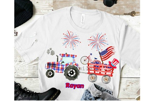 Download Free 4th July Tractor Template Sublimation Graphic By Aarcee0027 SVG Cut Files