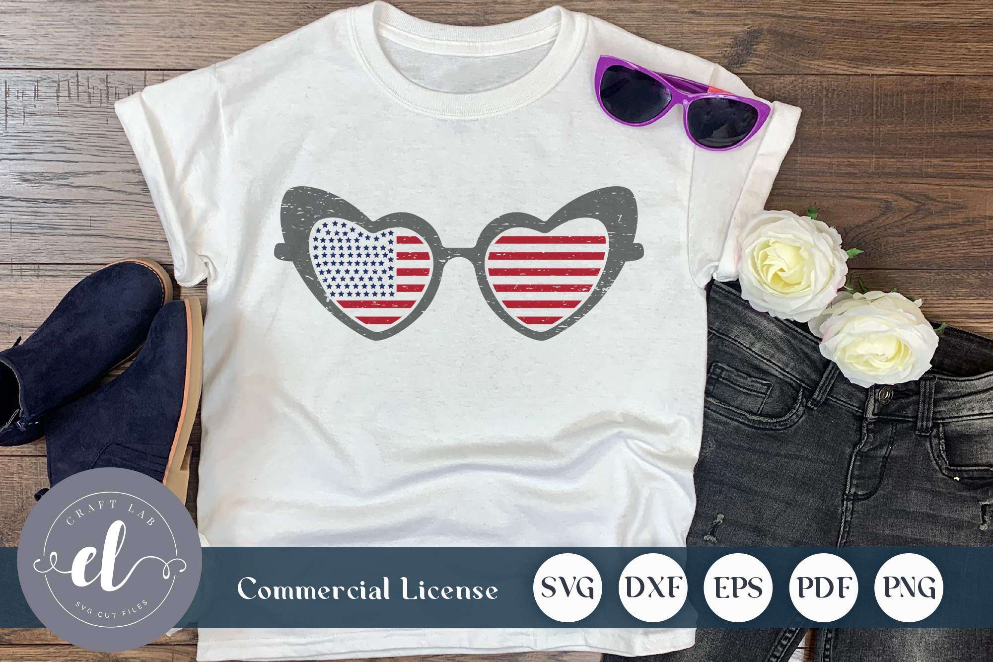 4th Of July Sunglass Graphic By Craftlabsvg Creative Fabrica
