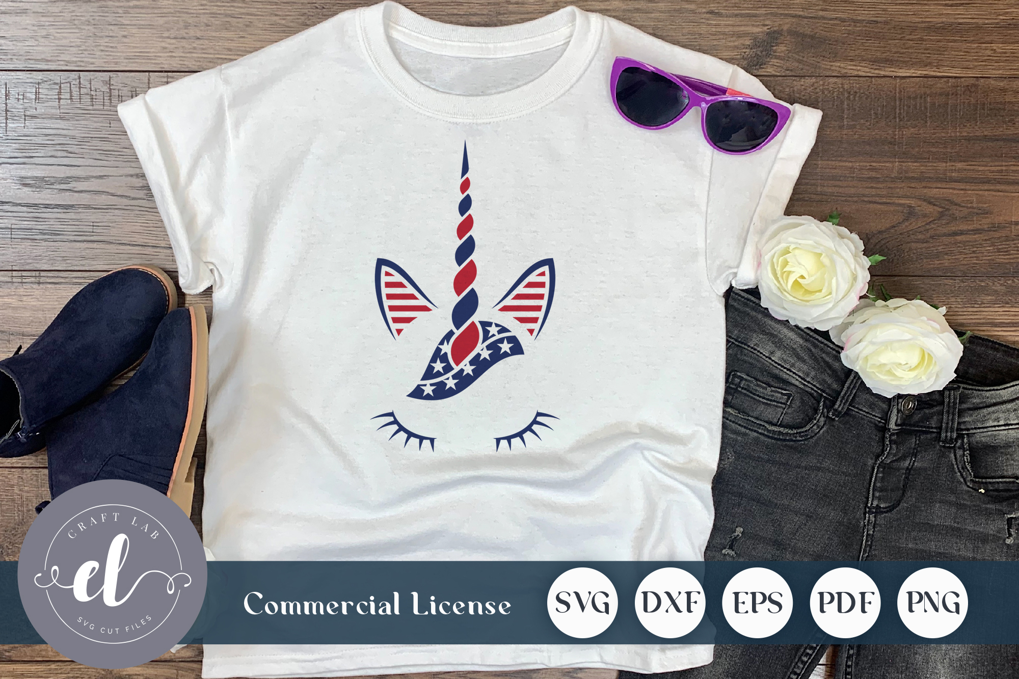 Download Free 4th Of July Unicorn Graphic By Craftlabsvg Creative Fabrica for Cricut Explore, Silhouette and other cutting machines.