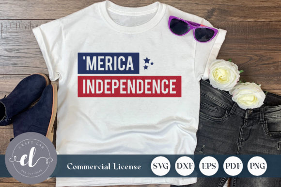 Download Free 4th Of July Merica Independence Graphic By Craftlabsvg for Cricut Explore, Silhouette and other cutting machines.