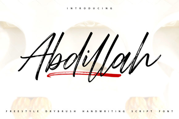 Print on Demand: Abdillah Script & Handwritten Font By Vunira