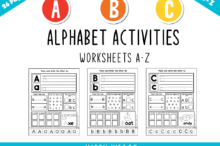Alphabet Activities Worksheets a-Z Set 2 Graphic K By Happy Kiddos
