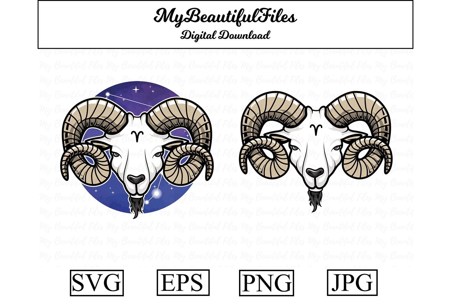 Download Free Aries Zodiac Signs Graphic By Mybeautifulfiles Creative Fabrica SVG Cut Files