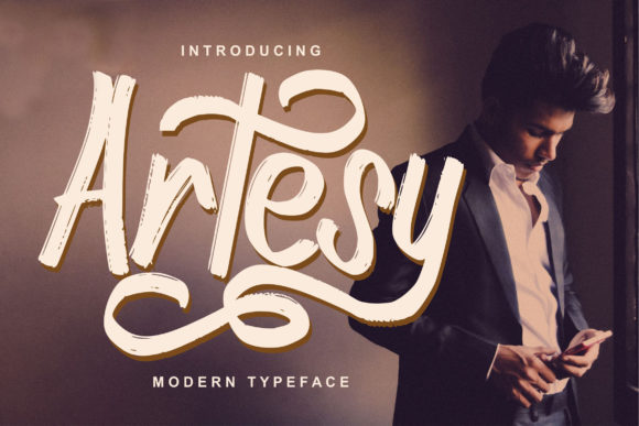 Download Free Artesy Font By Vunira Creative Fabrica for Cricut Explore, Silhouette and other cutting machines.