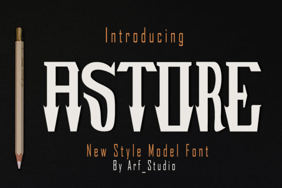 Print on Demand: Astore Blackletter Font By Arf_Studio - Image 1