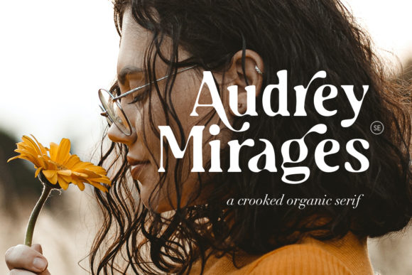 Print on Demand: Audrey Mirages Serif Font By saridezra