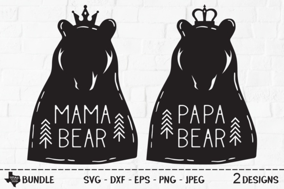 Print on Demand: Bear Bundle - Woodland Bear Designs Graphic Crafts By texassoutherncuts