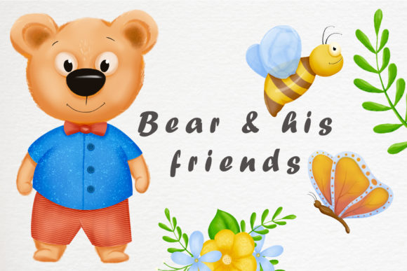 Print on Demand: Bear and His Friends Graphic Illustrations By Gennadii ART