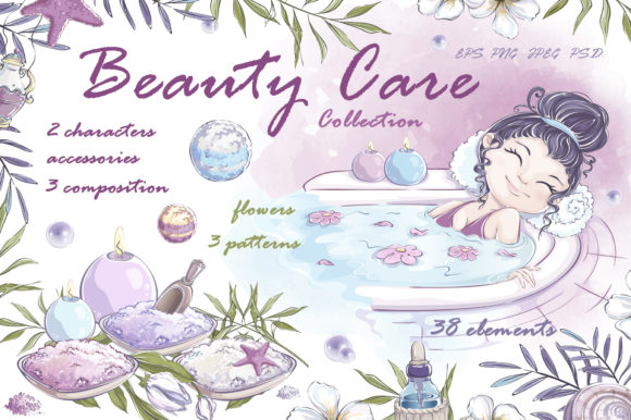 Beauty Care Graphic Illustrations By Maycat