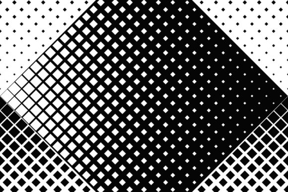 Black and White Diagonal Square Pattern Graphic Patterns By davidzydd