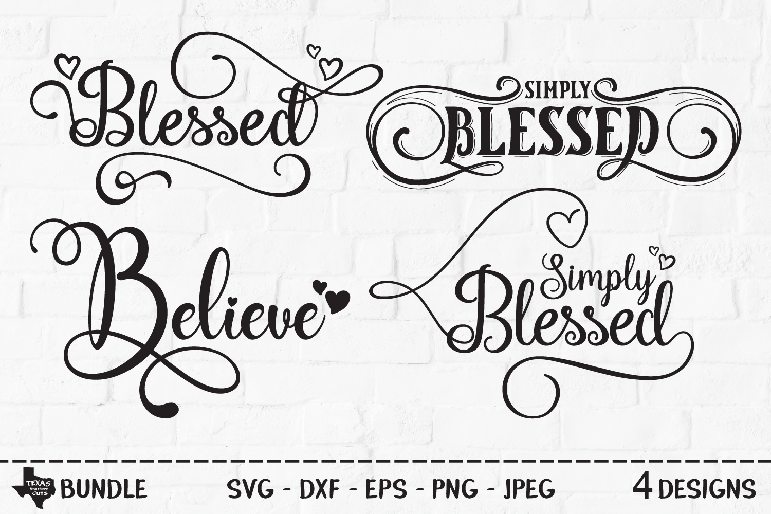 Download Free Blessed Bundle Christian Shirt Designs Graphic By for Cricut Explore, Silhouette and other cutting machines.