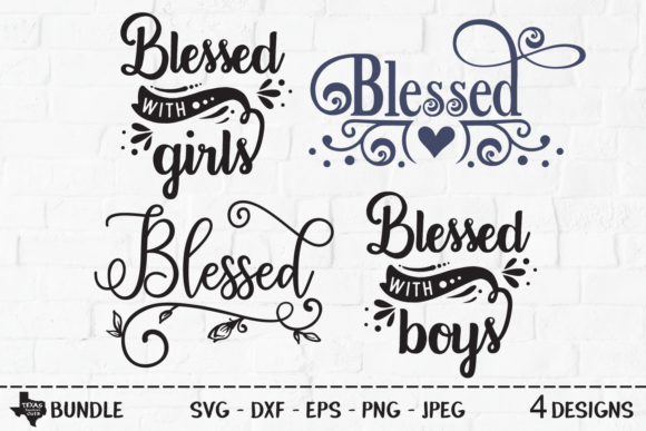 Print on Demand: Blessed Bundle - Christian Shirt Designs Graphic Crafts By texassoutherncuts