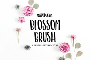 Print on Demand: Blossom Brush Script & Handwritten Font By dixietypeco
