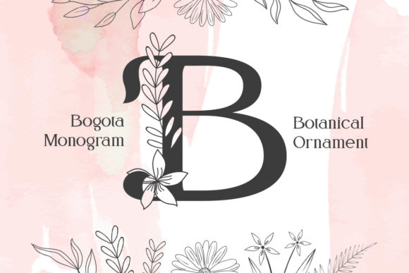 Print on Demand: Bogota Monogram Display Font By Monogram Lovers