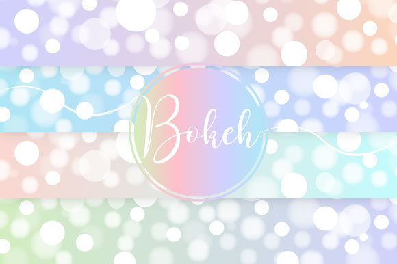 Bokeh Pastel Vector Graphic Illustrations By maree_gd