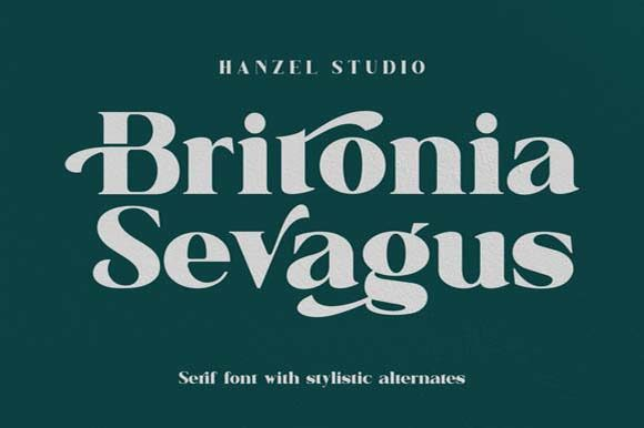 Print on Demand: Britonia Sevagus Serif Font By Hanzel Studio