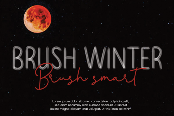 Download Free Brush Winter Font By Andikastudio Creative Fabrica for Cricut Explore, Silhouette and other cutting machines.