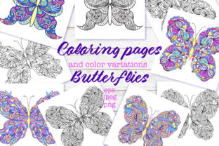 Butterflies - Coloring Pages Graphic Coloring Pages & Books Adults By fatamorganaoptic 1