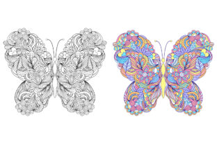 Butterflies - Coloring Pages Graphic Coloring Pages & Books Adults By fatamorganaoptic 6