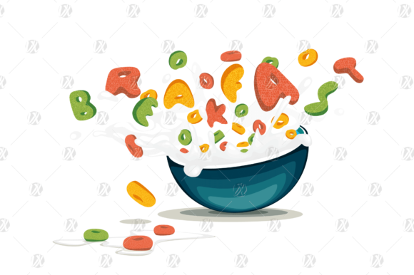 Download Free Cereal Oats Splash Milk Vector Graphic By Pedro Alexandre for Cricut Explore, Silhouette and other cutting machines.
