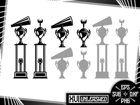 Print on Demand: Cheer and Dance Trophies Graphic Illustrations By XVI Unleashed