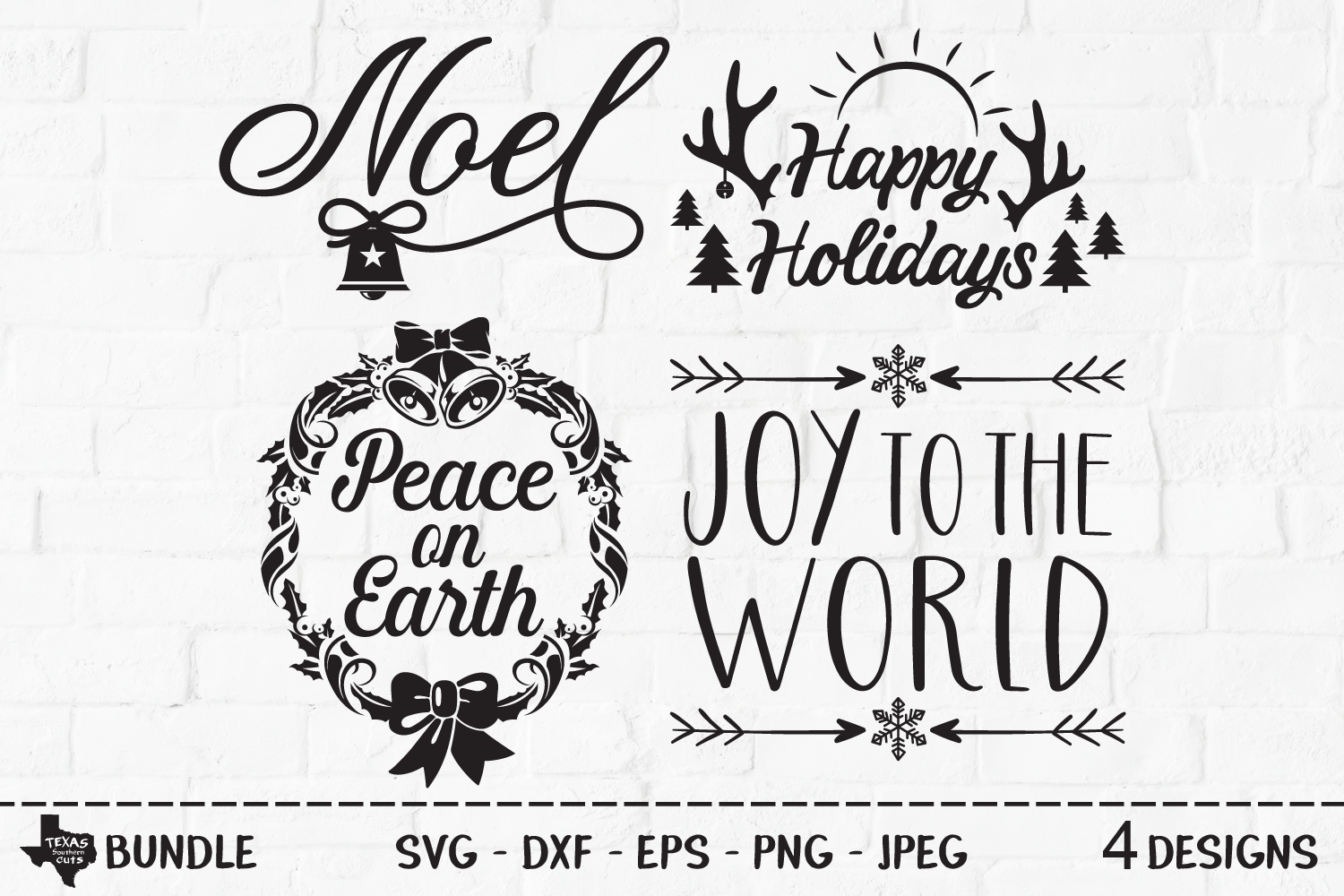 Download Free Christmas Bundle Christmas Designs Graphic By Texassoutherncuts Creative Fabrica for Cricut Explore, Silhouette and other cutting machines.