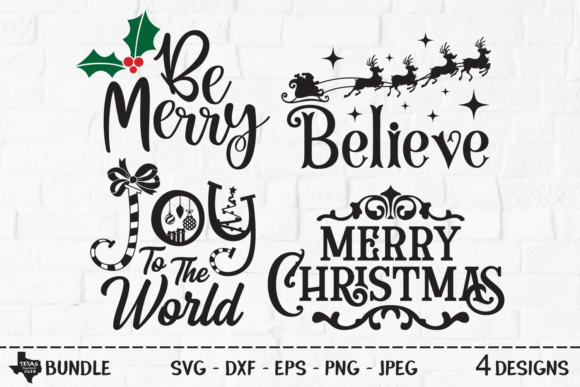 Print on Demand: Christmas Bundle - Christmas Designs Grafik Plotterdateien von texassoutherncuts