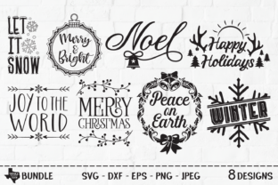Download Free Christmas Bundle Christmas Designs Graphic By for Cricut Explore, Silhouette and other cutting machines.
