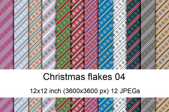 Print on Demand: Christmas Flakes 04 Graphic Textures By Andrea Kostelic