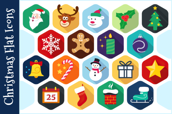 Christmas Flat Icons Graphic Icons By pixaroma