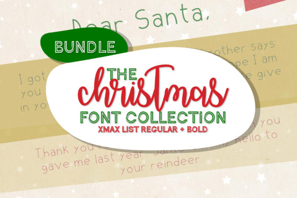 Print on Demand: Christmas List Display Font By Inkclouddesign