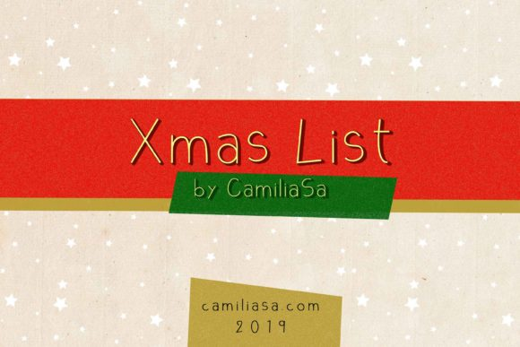 Download Free Christmas List Font By Inkclouddesign Creative Fabrica for Cricut Explore, Silhouette and other cutting machines.