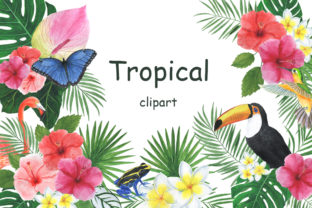 Clipart Tropical Watercolor Illustration Graphic Illustrations By shishkovaiv