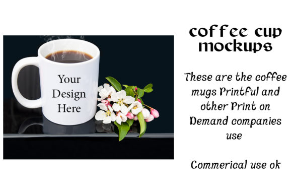 Print on Demand: Coffee Cup Mockups Graphic Product Mockups By A Design in Time