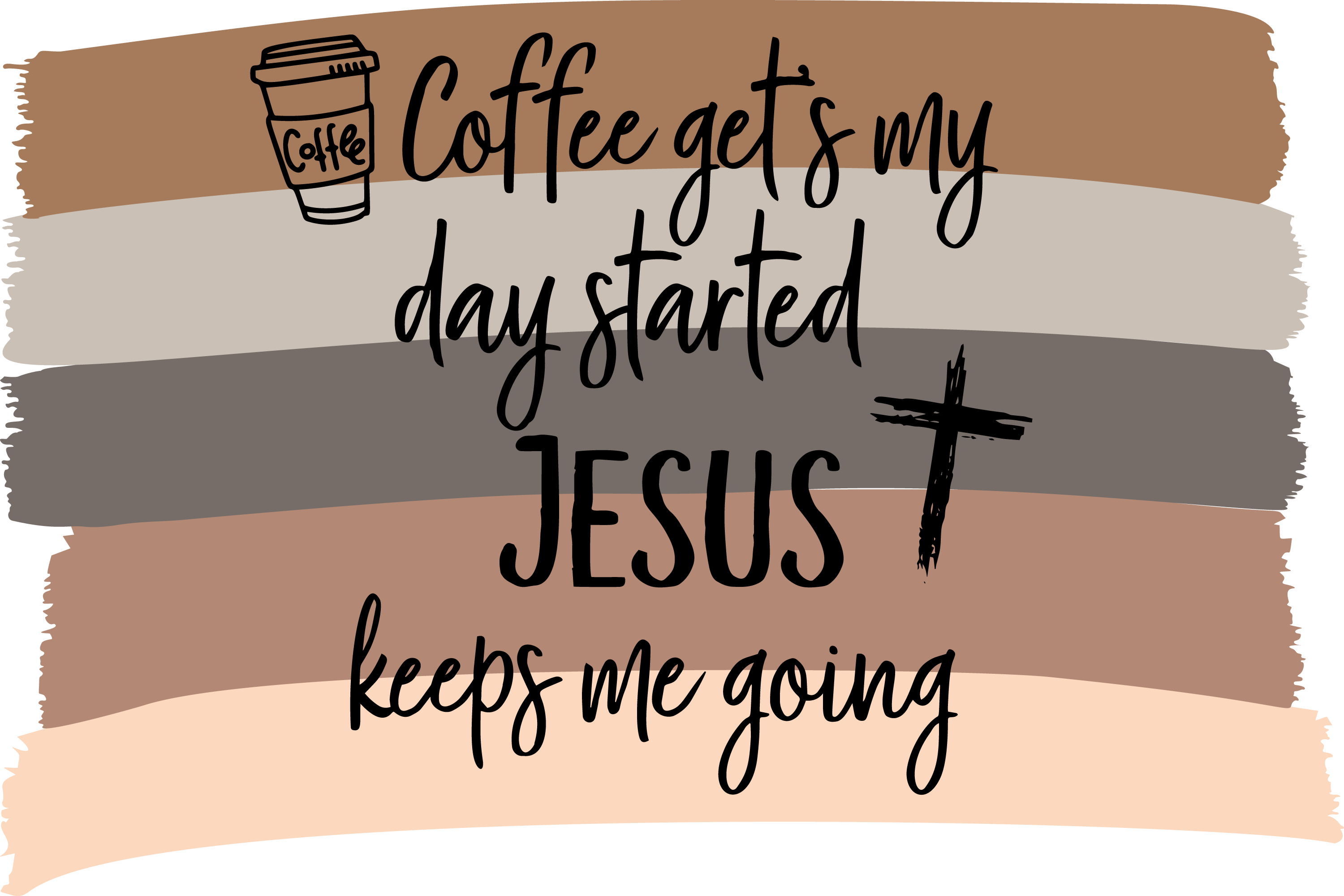 Download Free Coffee Gets My Day Started Graphic By Am Digital Designs for Cricut Explore, Silhouette and other cutting machines.