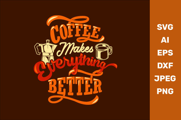 Download Free Coffee Quotes Graphic By Manglayang Studio Creative Fabrica for Cricut Explore, Silhouette and other cutting machines.