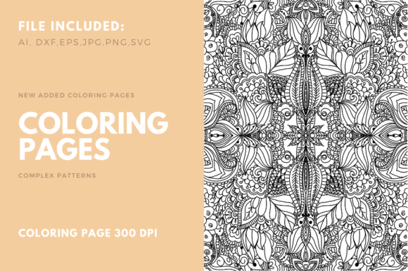 Print on Demand: Coloring Page Complex Pattern for POD 03 Graphic Coloring Pages & Books Adults By stanosh