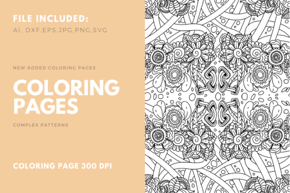 Print on Demand: Coloring Pages KDP 05 Graphic Coloring Pages & Books Adults By stanosh