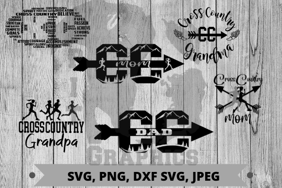 Download Free Cross Country Bundle Graphic By Pit Graphics Creative Fabrica for Cricut Explore, Silhouette and other cutting machines.