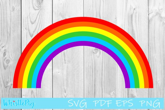 Download Free Cute Rainbow Graphic By Whistlepig Designs Creative Fabrica for Cricut Explore, Silhouette and other cutting machines.
